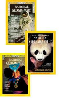 Algumas edições da revista National Geographic