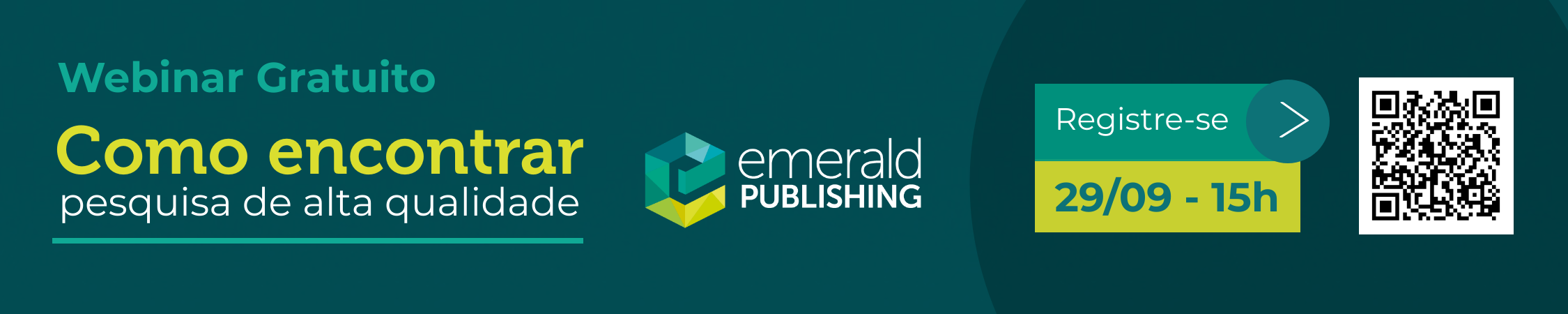 Webinário Emerald - 29 de setembro 2020